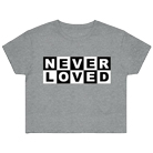 Never Loved - Logo (Deep Heather) (Crop Top) [入荷予約商品]