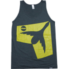 Stheart Clothing - Modernized Logo (Tank Top) (Black/Yellow)