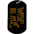Woe, Is Me - Logo Black Dog Tag