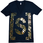 Woe, Is Me - S Logo Gold Foil (V-Neck)