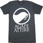 Agape Attire Clothing - Logo (Heather Black)