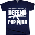 Man Overboard - Defend Pop Punk (Navy) [入荷予約商品]