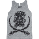 Arkaik Clothing - Mammoth Skull (Athletic Grey) (Tank Top)