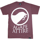Agape Attire Clothing - Logo (Heather Cranberry)