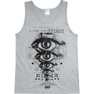 Life On Repeat - Eyes (Heather Grey) (Tank Top)