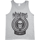 In Dying Arms - Skull Shield (Heather Grey) (Tank Top)