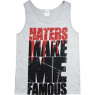 Make Me Famous - Haters (Heather Grey) (Tank Top)