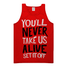 Set It Off - Never Take Us Alive (Red) (Tank Top) [入荷予約商品]