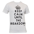 Mosh It Up Clothing - Keep Calm Until The Breakdown (White) [入荷予約商品]
