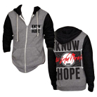 The Color Morale - Know Hope (Heather Grey/Black) (Zip Up Hoodie) [入荷予約商品]
