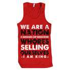 I Am King - Nation Of Whores (Red) (Tank Top) [入荷予約商品]
