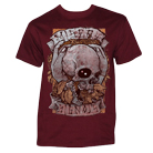 Misery Signals - Skull & Leaves (Maroon) [入荷予約商品]