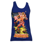 Iwrestledabearonce - Truth, Justice, And Shit (Lapis Blue) (Tank Top) [入荷予約商品]
