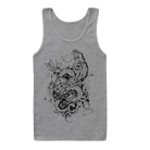 Like Moths To Flames - Snakes & Heart (Heather Grey) (Tank Top) [入荷予約商品]