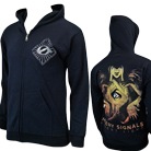 Misery Signals - Absent Light (Navy) (Zip Up Hoodie) [入荷予約商品]