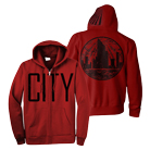 City In The Sea - CITY (Red) (Zip Up Hoodie) [入荷予約商品]
