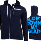 Daytrader - Slow Down My Brain (Navy) (Zip Up Hoodie) [入荷予約商品]
