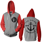 The Color Morale - Compass (Red/Heather Grey) (Zip Up Hoodie) [入荷予約商品]