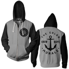 The Color Morale - Compass (Black/Heather Grey) (Zip Up Hoodie) [入荷予約商品]