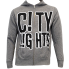City Lights - Logo (Gunmetal Heather Gray) (Zip Up Hoodie) [入荷予約商品]
