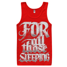 For All Those Sleeping - Logo (Red) (Tank Top) [入荷予約商品]