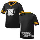 Everyone Dies In Utah - Neutral Ground Logo (Black/Gold Stripes) [入荷予約商品]