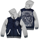 Structures - Fractured Skies (Navy/Heather Grey) (Varsity Jacket) [入荷予約商品]