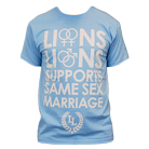 Lions Lions - Supports Same-Sex Marriage (Light Blue) [入荷予約商品]