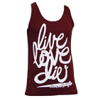 In Fear And Faith - Live Love Die (Tri Cranberry) (Tank Top) [入荷予約商品]