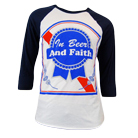 In Fear And Faith - Beer & Faith (White/Navy) (Baseball) [入荷予約商品]