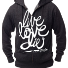 In Fear And Faith - Live Love Die (Charcoal Heather) (Zip Up Hoodie) [入荷予約商品]