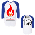 Finch - Flame (Blue/White) (Baseball) [入荷予約商品]