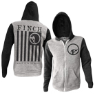 Finch - Flag (Heather Grey/Black) (Zip Up Hoodie) [入荷予約商品]