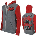 Crown The Empire - Worthless (Grey/Red) (Zip Up Hoodie) [入荷予約商品]