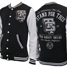 The Ghost Inside - I Stand For This (Black/Grey) (Varsity Jacket) [入荷予約商品]