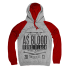 As Blood Runs Black - Nails (Heather Grey/Red) (Hoodie) [入荷予約商品]