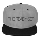 The Ready Set - Black Logo (Charcoal/Black) (Snapback) [入荷予約商品]