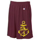 The Color Morale - Gold Anchor (Maroon) (Mesh Shorts) [入荷予約商品]