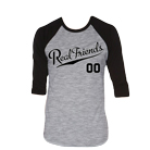 Real Friends - Never Grow Up (Heather/Black) (Baseball) [入荷予約商品]