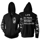 Old Wounds  - Death Is Release (Zip Up Hoodie) [入荷予約商品]