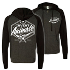 Invent, Animate - Moon Phase (Heather Charcoal/Black) (Lightweight Zip Up Hoodie) [入荷予約商品]