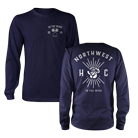 To The Wind - Flower (Navy) (Long Sleeve) [入荷予約商品]