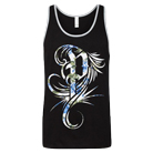 Polyphia - Blue Floral (Black/Heather Grey) (Tank Top) [入荷予約商品]