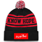 The Color Morale - Know Hope (Red/Black) (Pom Beanie) [入荷予約商品]