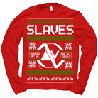 Slaves - Logo Xmas (Red) (Sweat) [入荷予約商品]