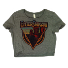 Enter Shikari - Logo (Heather Grey) (Crop Top) [girl's] [入荷予約商品]