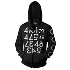 Animals As Leaders - Numbers (Zip Up Hoodie) [入荷予約商品]