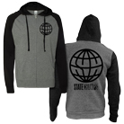 State Champs - Globe Logo (Black/Charcoal) (Zip Up Hoodie) [入荷予約商品]