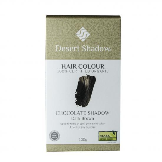 繰り返すほど美しい髪になるヘアカラー!Desert Shadowチョコレートシャドウ(落ち着いたブラウン)100g