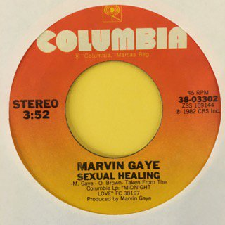 "MARVIN GAYE - SEXUAL HEALING - 7"" (COLUMBIA)"